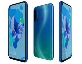 Huawei Nova 5i Gradient Blue 3D model