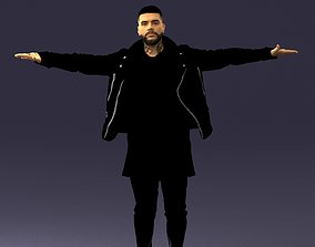 The man in black in the t-pose 0212 3D model