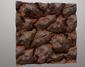 PBR seamless red cracked rocks textures 3D model