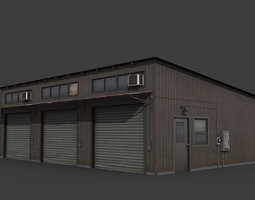 Old Small Warehouse 3D asset