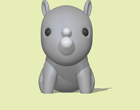 A cute Rhinoceros to decorate and play 3D printable model