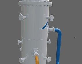 Absorber-separator of Oil refinery 3D model