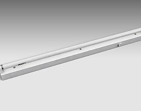 Single Fluorescent Tube Fixture 3D asset