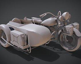 1942 Harley Davidson WLA 3D printable model