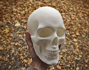 Anatomically correct human skull in 3D printable model 2