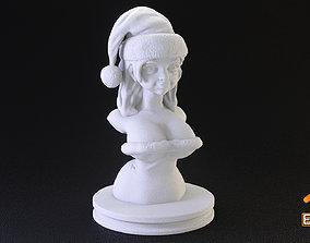 xmas Sexy Santa Helper 3d Printable Bust