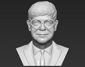 Elton John bust 3D printing ready stl obj formats