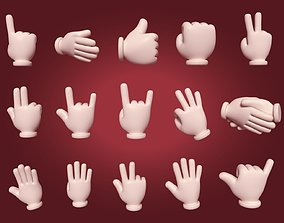 3D model Hand Emoji Signs - Icons Pack