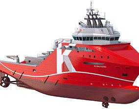 3D model 95 m AHTS Supply Vessel KL SALTFJORD