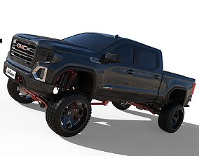 3D model 2020 GMC Sierra AT4 Cencal Truck