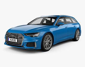 3D model Audi A6 S-Line avant 2018