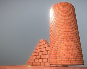 3D model game-ready Brick Wall 1 - Texture Set 9