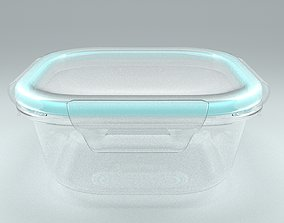 3D Glass Food Container