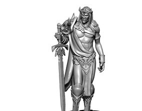 King 3D print model - Elric 35mm scale