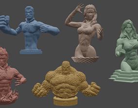 3D printable model Complete Fantastic Four Busts