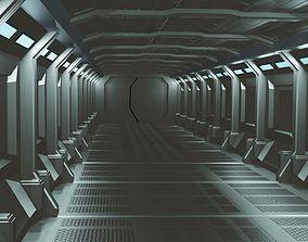 Space Corridor 3D asset