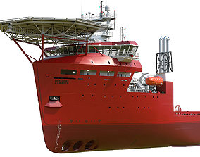 Offshore Carrier RED 3D model