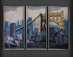 links art Picture Frames 3D asset low-poly