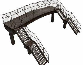 3D model game-ready Pedestrian Bridge