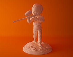 3D print model statue Paintball shooter