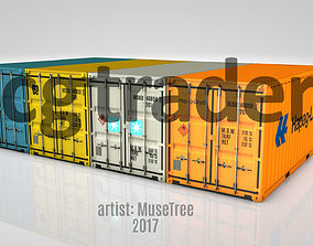 Shipping Container Low Poly 20ft 3D model VR / AR ready