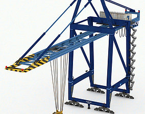 Port Container Crane 3D asset