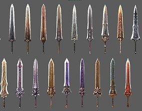 3D model synthetic heavy sword