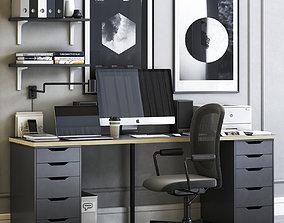 ALEX workplace with FLINTAN chair 3D