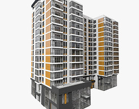 3D model Residential Building With Offices