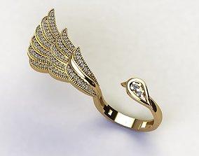 Bird ring 2x ring 3D print model