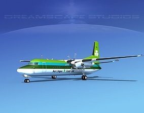 Fokker 50 Aer Lingus 3D model