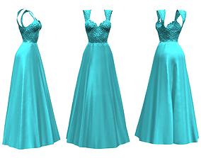 Royal Gown Dress 3D asset