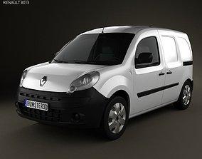 3D Renault Kangoo Van 2 Side Doors 2011