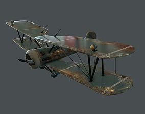 old passenger Plane 3D model