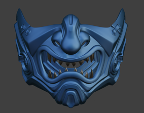 3D print model Sub Zero Samurai mask for face Mortal 3