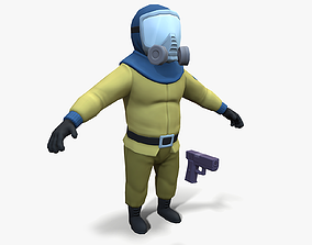 3D model Gas Masked Gunner