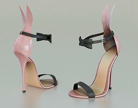 VR / AR ready High Heels Playboy Bunny - Low Poly 3D