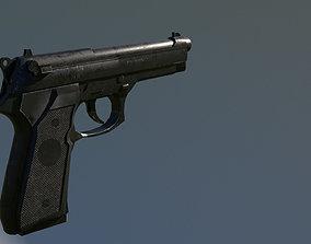 3D asset m9 handgun