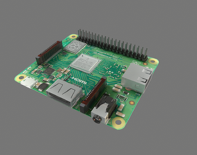 3D model low-poly Raspberry Pi A