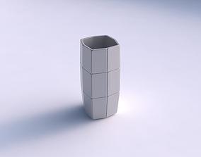 3D print model Vase quadratic tall with huge plates