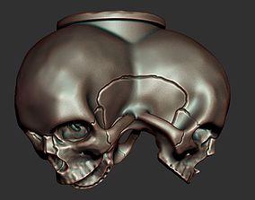 Triple skull bead 3D printable model