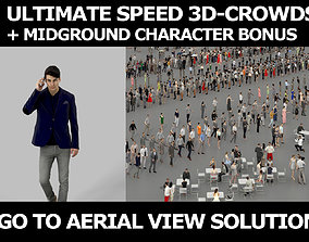 3d crowds and Prime A Midground Smart Casual Man Cell
