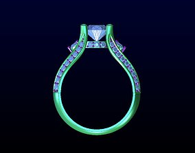3D print model rings DIAMOND JEWELLERY