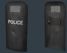 Post-Apocalypse Police Shield Low-poly 3D model low-poly