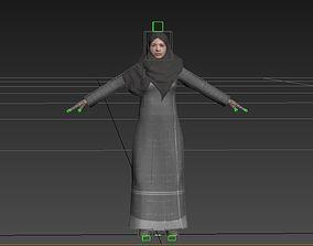 3D model arabian woman