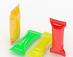 Collection Candy wrappers v1 3D model