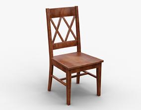 Classic Wooden Chair 2 3D PBR