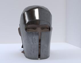 3D asset low-poly Medieval Helmet
