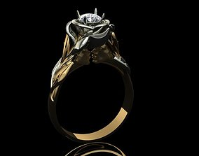 fashion-ring flower ring 3D print model