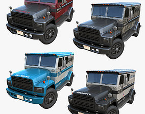 3D model American armored security truck